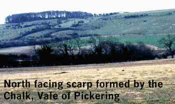 Description: Description: Description: Description: North facing scarp formed by the Chalk, Vale of Pickering