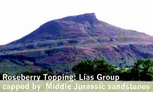 Description: Description: Description: Description: Description: Description: Description: Description: Description: Roseberry Topping: Middle Jurassic deltaic sandstones capping the Lower Jurassic Lias Group